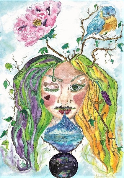 (CreativeWork) Let Nature take its Course by Latesha Houston. drawing. Shop online at Bluethumb.