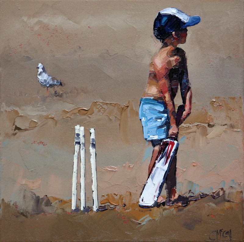 (CreativeWork) Beach Cricketer III - Limited Edition Giclee Art Print   Ed. 11 of 100 by Claire McCall. print. Shop online at Bluethumb.