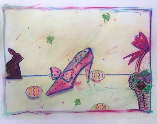 (CreativeWork) Easter Fun - Collectable 80s by Jewell Homad Johnson. #<Filter:0x000055fe552a7908>. Shop online at Bluethumb.