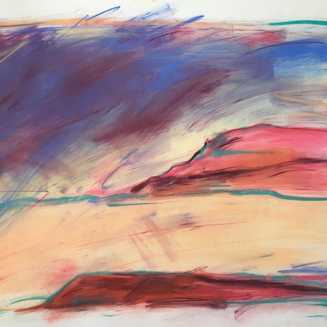 (CreativeWork) Mesa Landscape by Jewell Homad Johnson. Drawings. Shop online at Bluethumb.