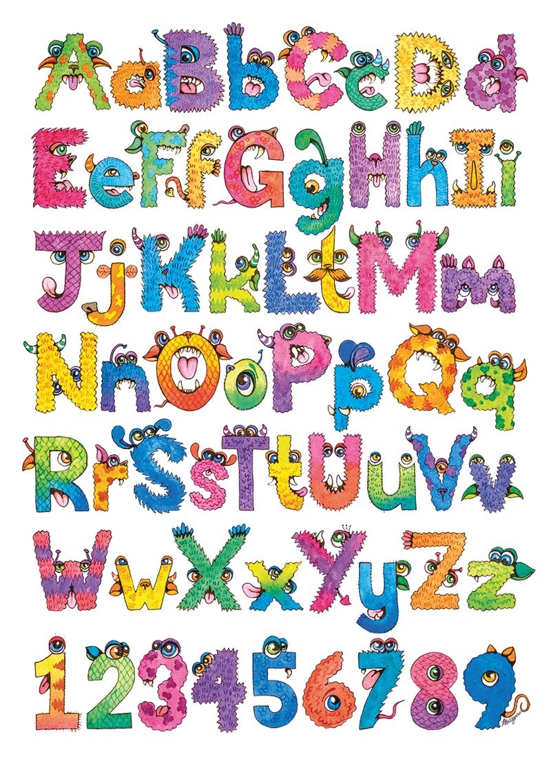 monster alphabet by katherine appleby paintings for sale bluethumb