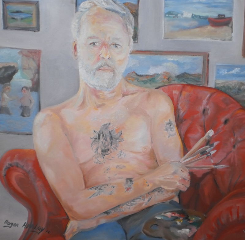 (CreativeWork) The Painter. by roger harley. oil-painting. Shop online at Bluethumb.