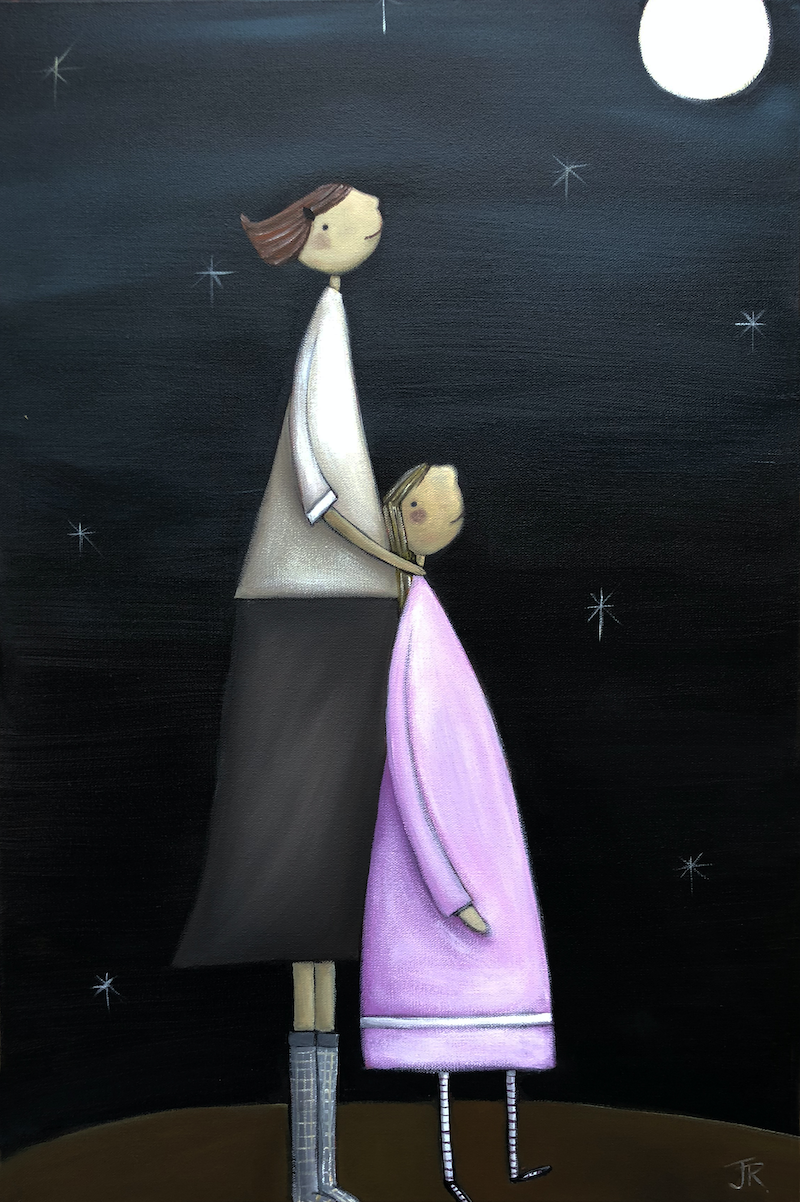 (CreativeWork) Stolen Moment - The Simple Life Series Revisited by Julie Robertson. arcylic-painting. Shop online at Bluethumb.