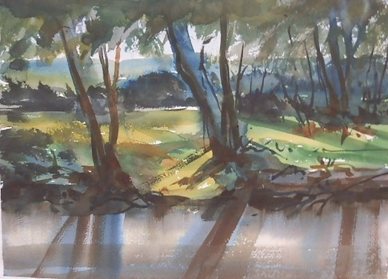 (CreativeWork) Golburn River at Molesworth by Phillip Mylecharane. watercolour. Shop online at Bluethumb.