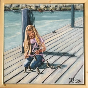 (CreativeWork) On The Jetty by Robyn Gray. arcylic-painting. Shop online at Bluethumb.