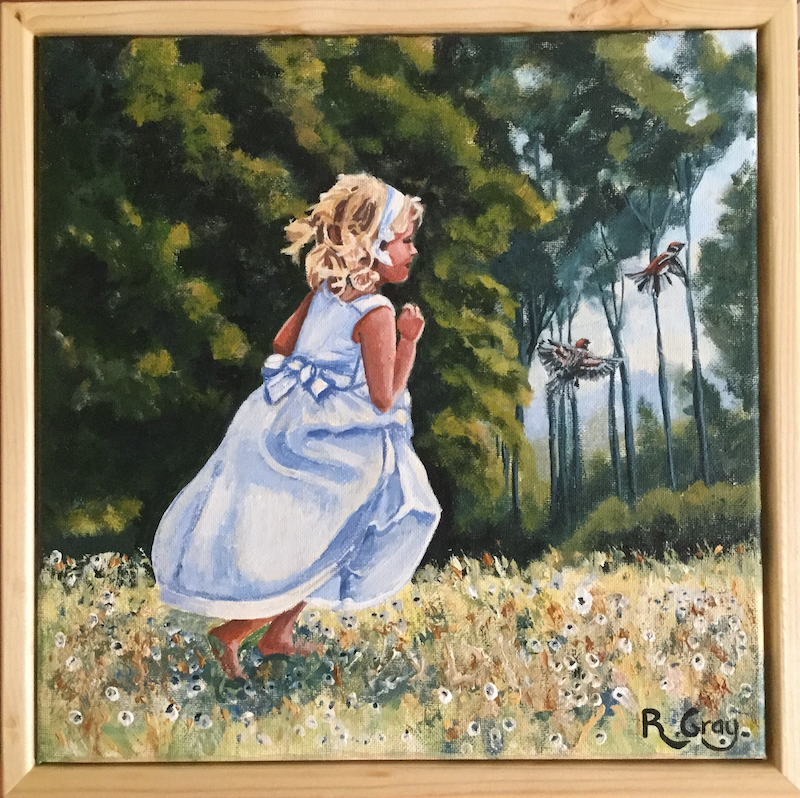 (CreativeWork) Forrest Friends by Robyn Gray. acrylic-painting. Shop online at Bluethumb.