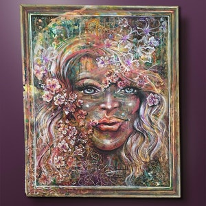 (CreativeWork) Natures Beauty? by Bec Andrews. mixed-media. Shop online at Bluethumb.