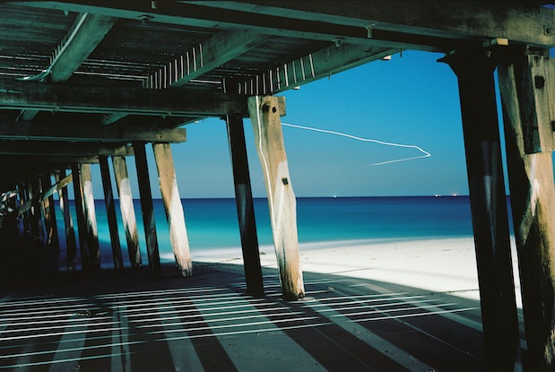 (CreativeWork) Aeroplane Over Jetty Ed. 2 of 5 by Alex Frayne. Photograph. Shop online at Bluethumb.