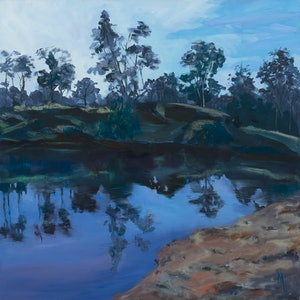 (CreativeWork) Macintryre Meander by Meredith Howse. oil-painting. Shop online at Bluethumb.