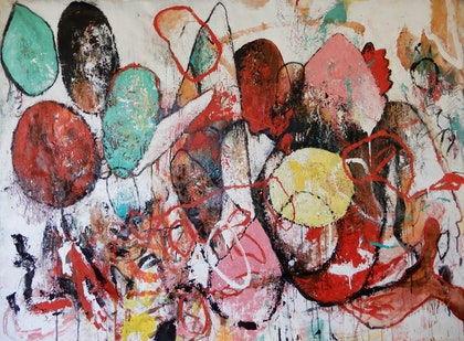 (CreativeWork) 'Figures 1 ' by Aimee Rytenskild. mixed-media. Shop online at Bluethumb.