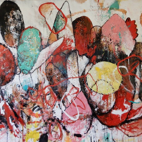 (CreativeWork) 'Figures 1 ' by Aimee Rytenskild. Mixed Media. Shop online at Bluethumb.