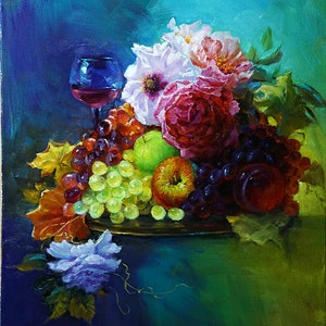 (CreativeWork) Cheerful by Yuan Fu. oil-painting. Shop online at Bluethumb.