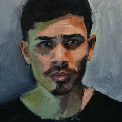 (CreativeWork) Study for Ali by Loribelle Spirovski. oil-painting. Shop online at Bluethumb.