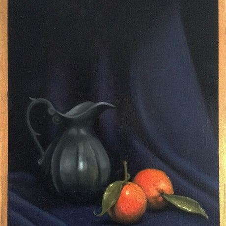 (CreativeWork) Florentine still life by Barbara Harkness. Oil Paint. Shop online at Bluethumb.