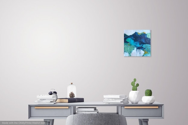 (CreativeWork) Above the teeming, our silence by Sharon Monagle. Acrylic Paint. Shop online at Bluethumb.