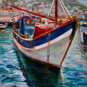 (CreativeWork) READY FOR SEA by Sue Hill. arcylic-painting. Shop online at Bluethumb.