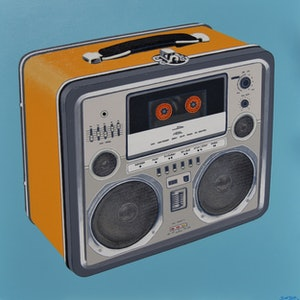 (CreativeWork) The Mix Tape No.2 by BRETT ROSE. acrylic-painting. Shop online at Bluethumb.