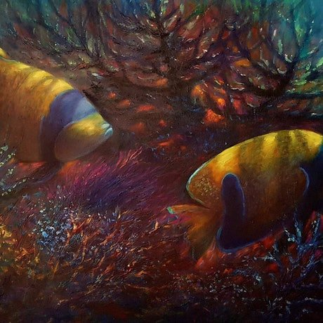 (CreativeWork) chasing coral  #15 by Eugene Rubuls. Oil Paint. Shop online at Bluethumb.