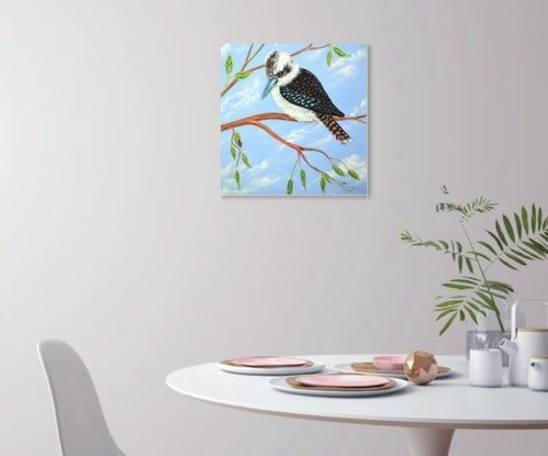 (CreativeWork) Kookaburra and the Ladybird by Linda Callaghan. Acrylic Paint. Shop online at Bluethumb.