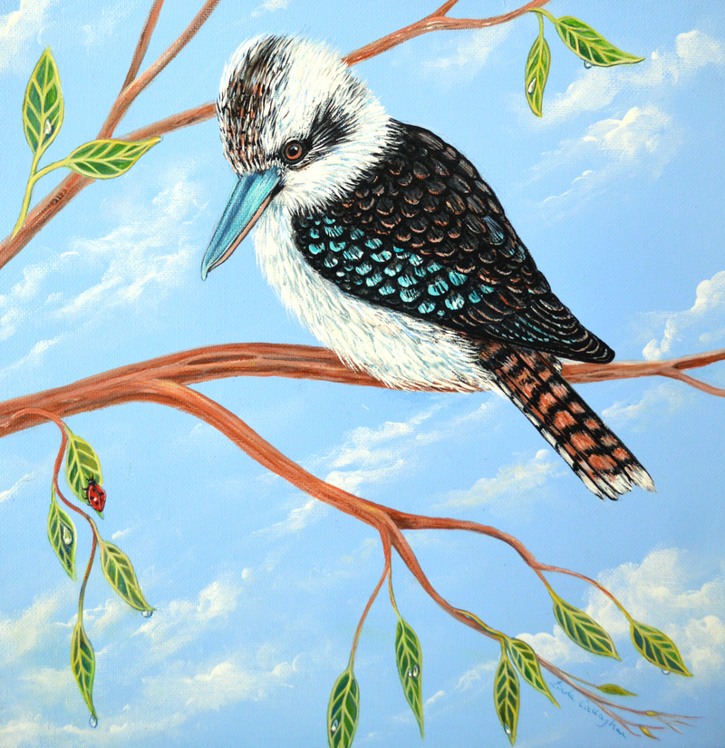 (CreativeWork) Kookaburra and the Ladybird by Linda Callaghan. #<Filter:0x00007fec3cbb07a8>. Shop online at Bluethumb.