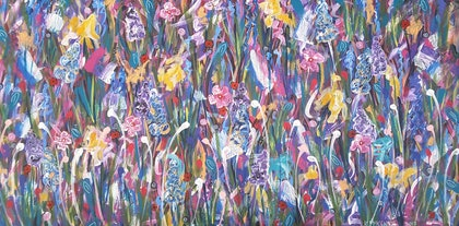 (CreativeWork) Daffodils  by Karen McKenzie. arcylic-painting. Shop online at Bluethumb.