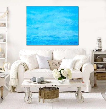 (CreativeWork) ABSTRACT BLUE OCEAN by Jan Matson. #<Filter:0x000055fd4526f6b8>. Shop online at Bluethumb.