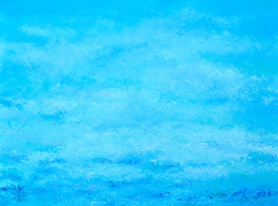 (CreativeWork) ABSTRACT BLUE OCEAN by Jan Matson. Oil Paint. Shop online at Bluethumb.