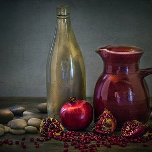 (CreativeWork) Still Life with Pomegranate Ed. 2 of 5 by Anna-Riitta Ovaska. photograph. Shop online at Bluethumb.