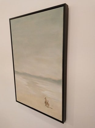 (CreativeWork) Two Roo Beach by Donna Christie. Oil Paint. Shop online at Bluethumb.