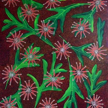(CreativeWork) Firewheel by Julie McKenzie. Acrylic Paint. Shop online at Bluethumb.