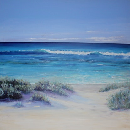 (CreativeWork) Summer time  by Ann Steer. Acrylic. Shop online at Bluethumb.