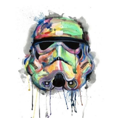 (CreativeWork) Trooper by PHIL HODGSON. arcylic-painting. Shop online at Bluethumb.