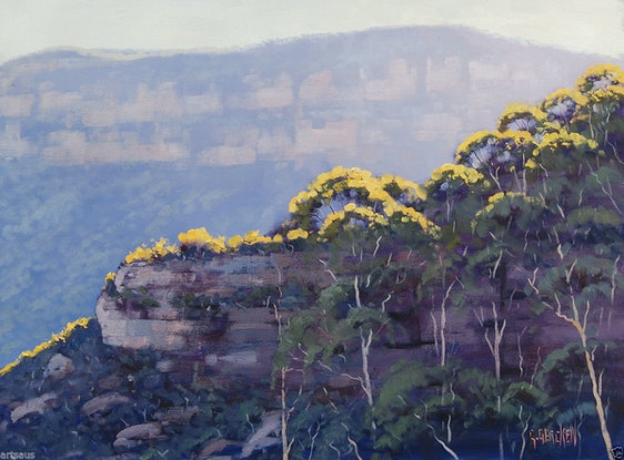 (CreativeWork) Afternoon light Narrow Neck by Graham Gercken. Oil. Shop online at Bluethumb.