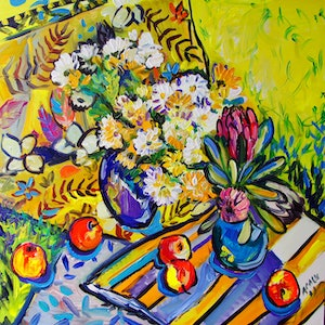 (CreativeWork) Summer Symphony by Katerina Apale. arcylic-painting. Shop online at Bluethumb.