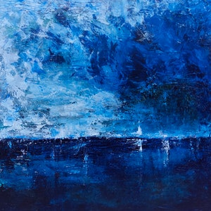 (CreativeWork) Stormy  Bay by Susanne Tester. arcylic-painting. Shop online at Bluethumb.