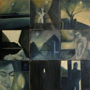 (CreativeWork) 3 am series September 2006 New Zealand by Heidi Savage. oil-painting. Shop online at Bluethumb.