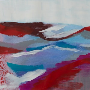(CreativeWork) Abstract Landscape Study Series: Roses Aren't Red 4 by Maria Al Zoubi. Acrylic Paint. Shop online at Bluethumb.