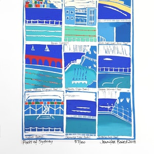 (CreativeWork) Pools of Sydney. Ed. 57 of 100 by Jennifer Baird. print. Shop online at Bluethumb.