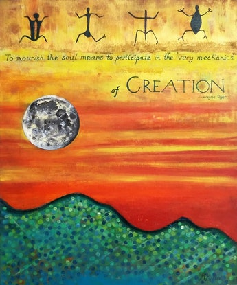 (CreativeWork) Creation by Michelle Ward. Mixed Media. Shop online at Bluethumb.