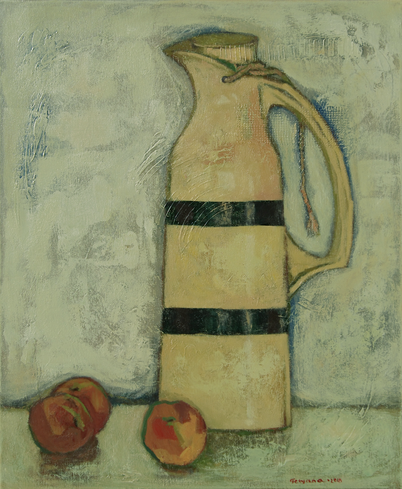 (CreativeWork) Mr Thermos by Tetyana Khytko. oil-painting. Shop online at Bluethumb.
