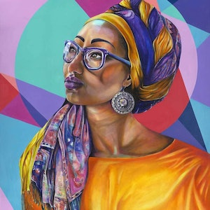(CreativeWork) Inshallah - Limited Edition Print of Yassmin Abdel-Magied Ed. 1 of 20 by Tamara Armstrong. print. Shop online at Bluethumb.