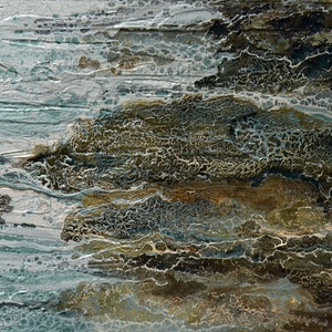 (CreativeWork) Rocky Shore by Brigitte Ackland. print. Shop online at Bluethumb.