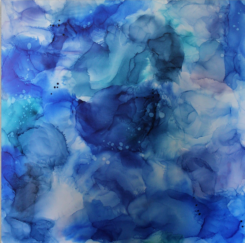 (CreativeWork) Beneath the Ripples by Larissa Lea. resin. Shop online at Bluethumb.