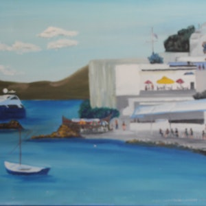 (CreativeWork) MYKONOS 1 by Ralph Coles. oil-painting. Shop online at Bluethumb.