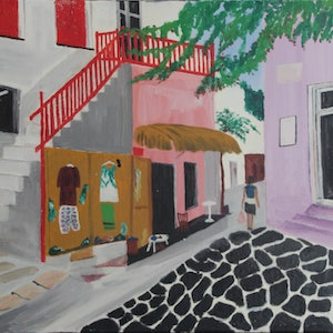 (CreativeWork) MYKONOS 2 by Ralph Coles. oil-painting. Shop online at Bluethumb.