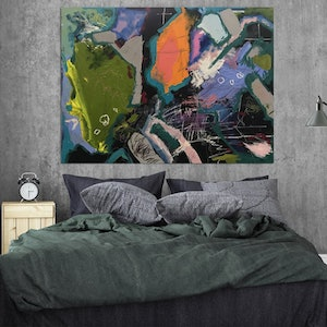 (CreativeWork) Uptown by Baker Collection. arcylic-painting. Shop online at Bluethumb.