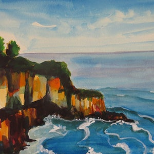 (CreativeWork) Eden Coastline by Colleen Michelle Connors. arcylic-painting. Shop online at Bluethumb.