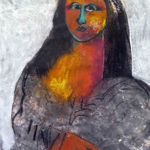 (CreativeWork) Mona Lisa - John Graham version  by John Graham. mixed-media. Shop online at Bluethumb.