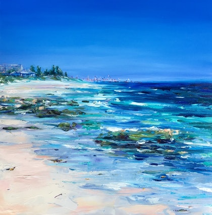 (CreativeWork) North Cottesloe by Jo Meredith. oil-painting. Shop online at Bluethumb.