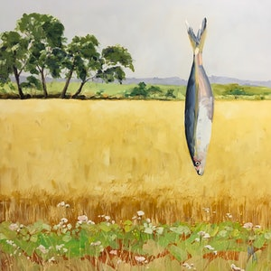 (CreativeWork) Surf and Turf by Meredith Howse. oil-painting. Shop online at Bluethumb.